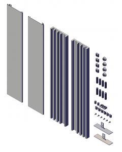 Complete set universele muursteunen 85cm